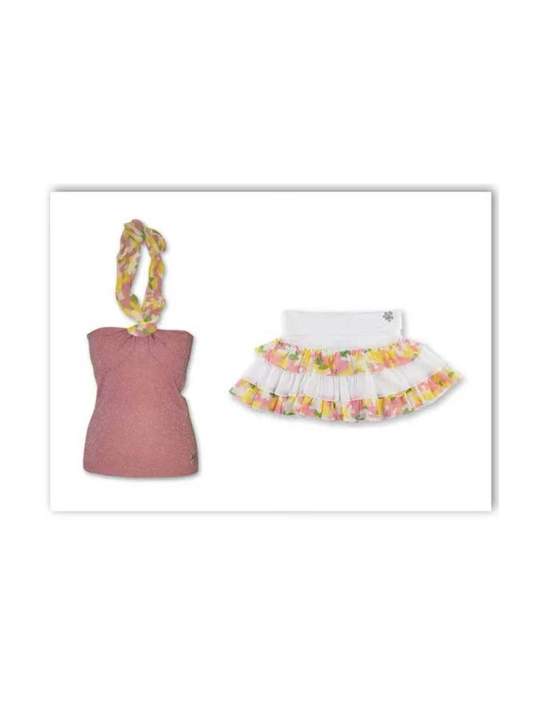 Top + Skirt with Ruffles