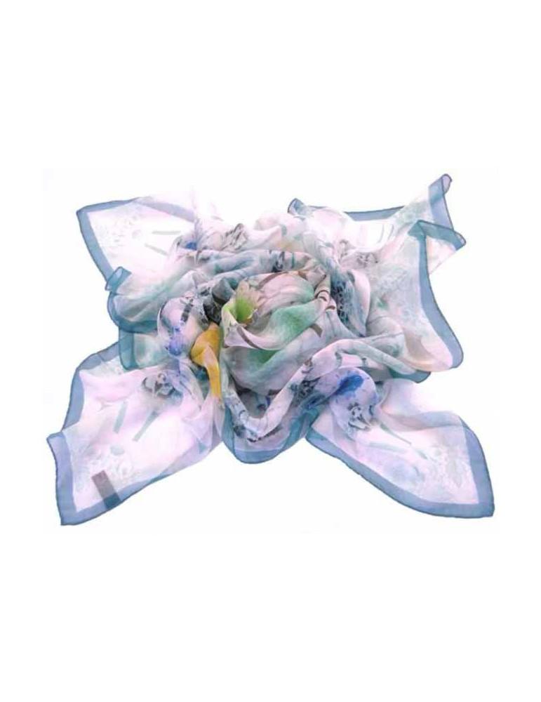 Foulard voile di seta - 100x100 cm