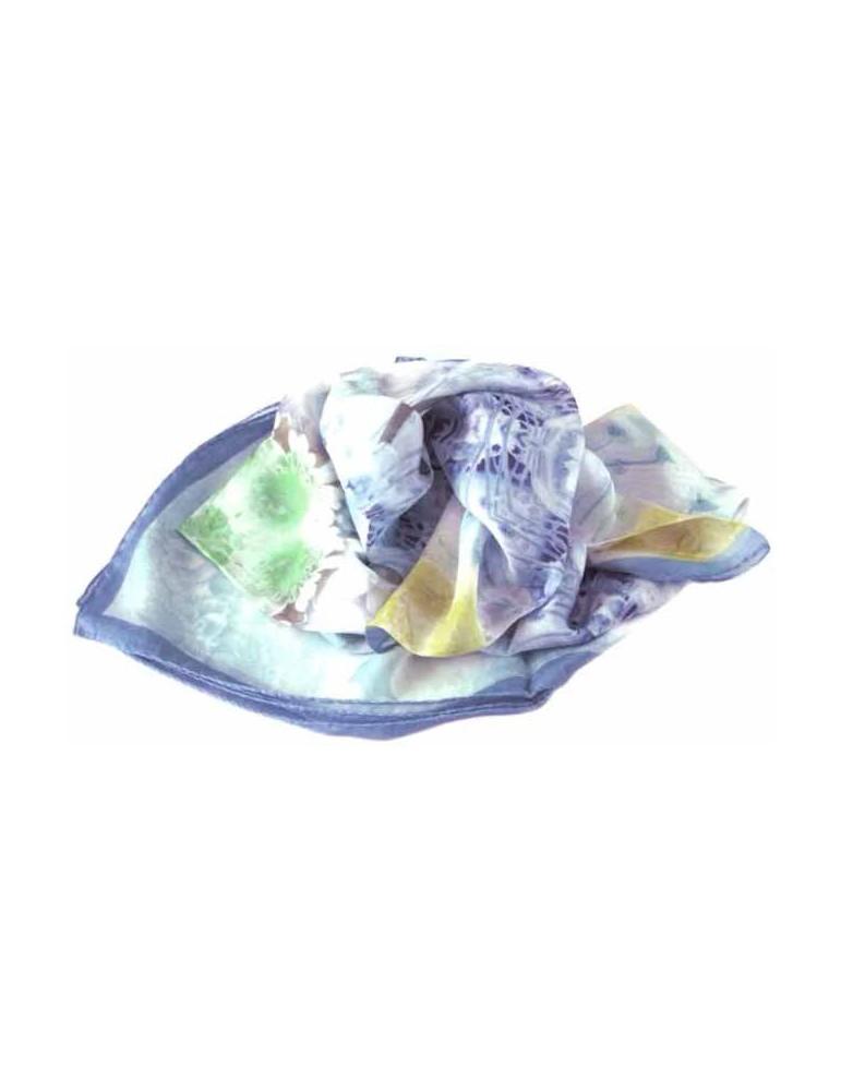 Silk voile foulard - 100x100 cm