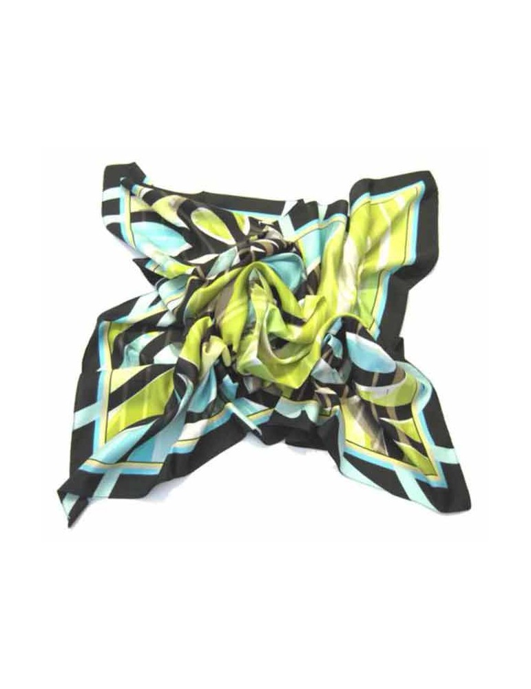 Foulard with geometric pattern - 90x90