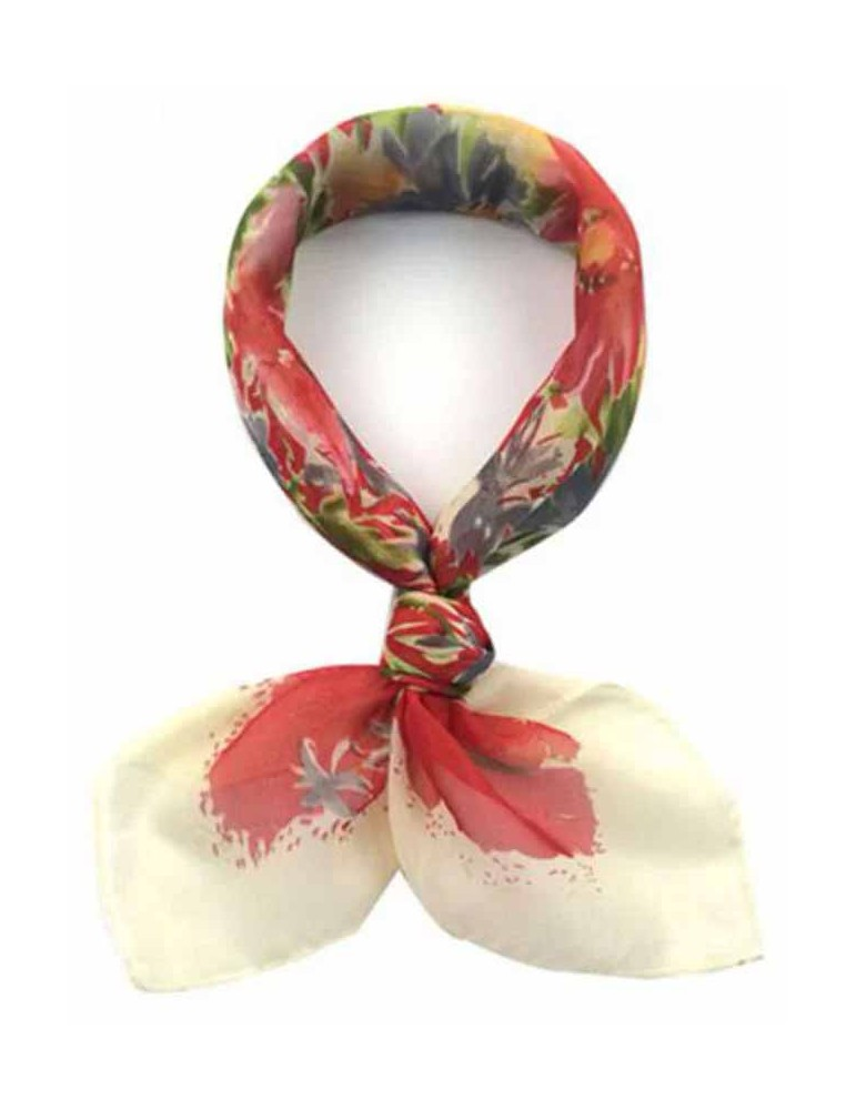 Foulard with bouquet of flowers - 65X65