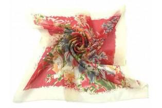 Foulard con bouquet di fiori - 65X65