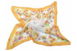 Foulard with small flowers - 65x 65 cm