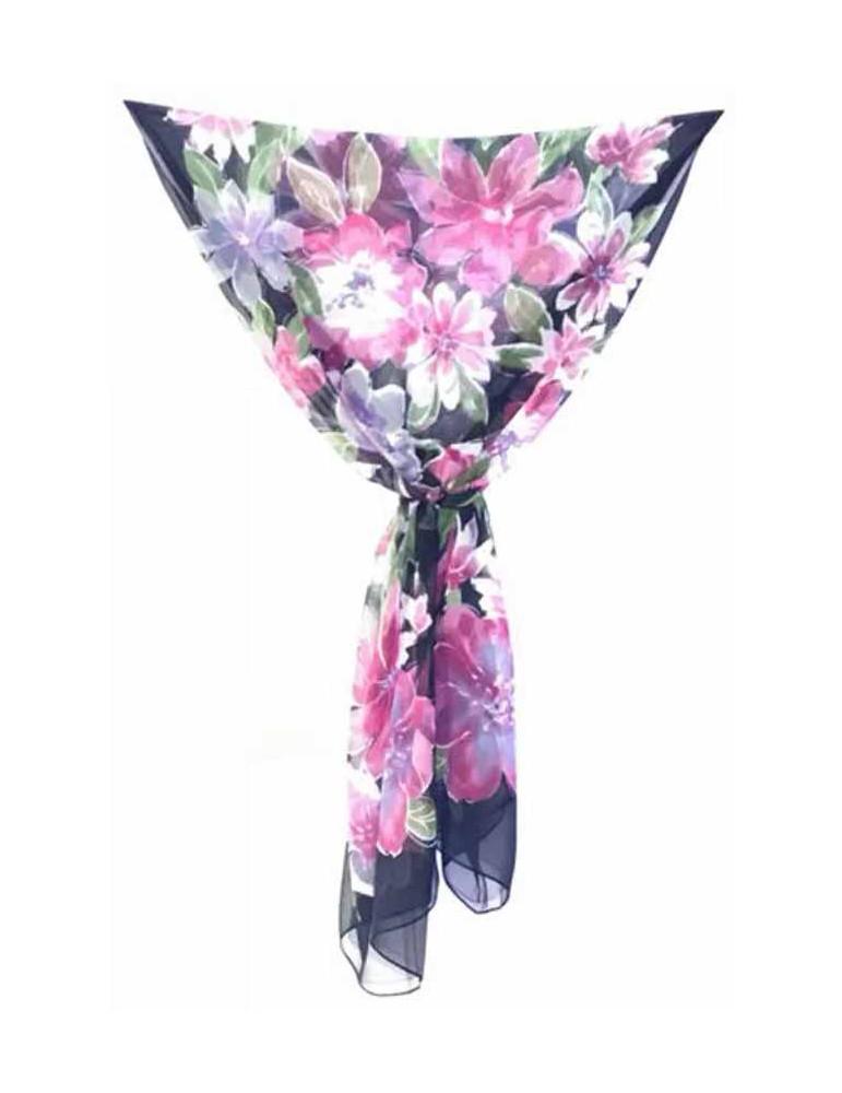 Floral design stole - 50x160 cm