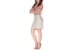 Voile blouse with floral design