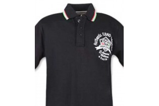 Polo with contrasting tricolor profiles
