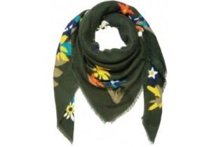 Scialle motivo floreale LS-FLOW-kha 145X145