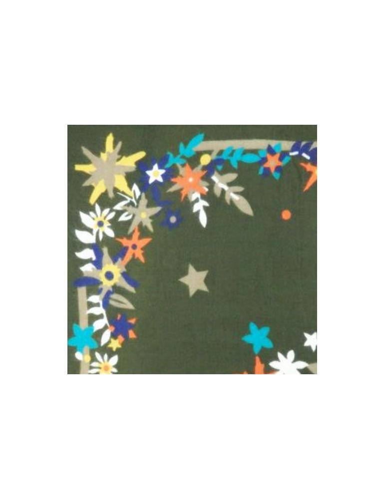 Floral pattern shawl LS-FLOW-kha 145X145