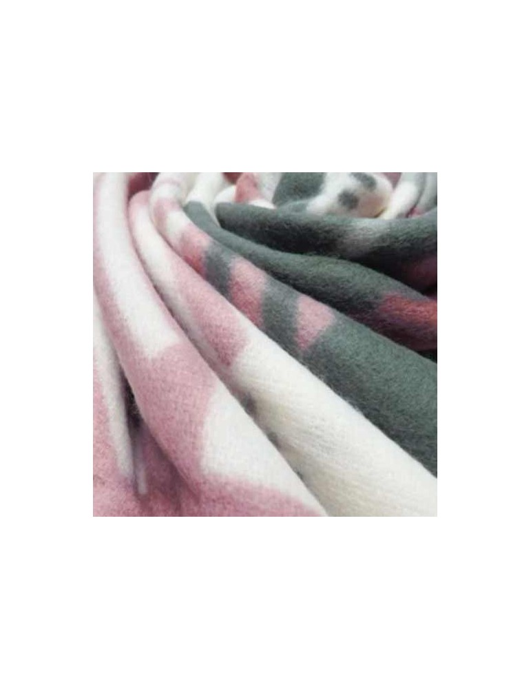 Scialle geometrico-pink 140x140