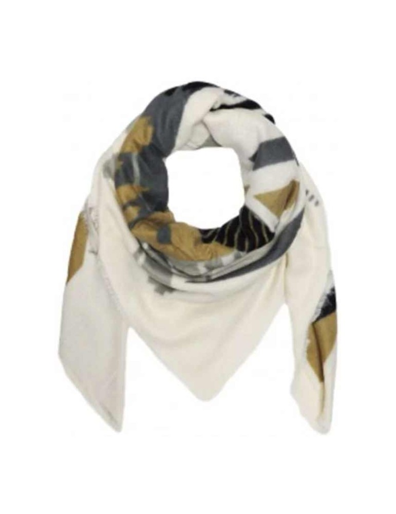 Shawl with geometric pattern-blk 140x140