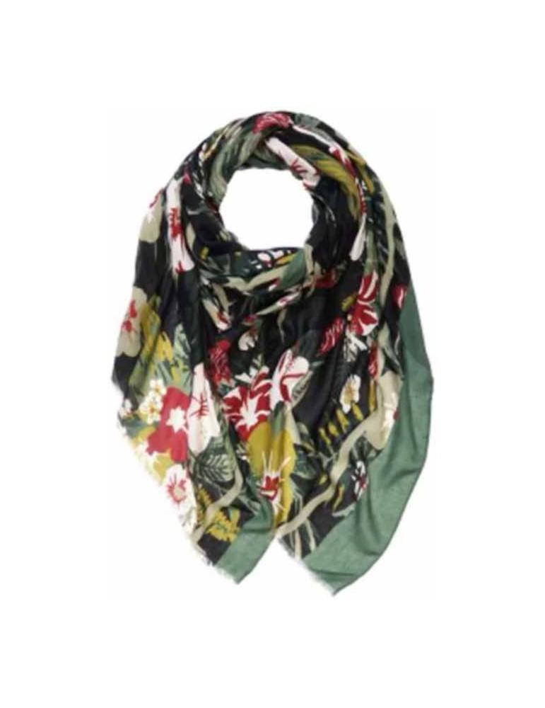 Maxi-floral-stole-BLK 180x90