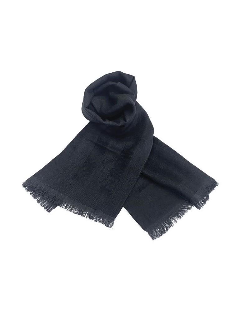 Sciarpa FF in lana 35X160 cm con sobrie righe in rilievo tono su tono per un abbigliamento di classe