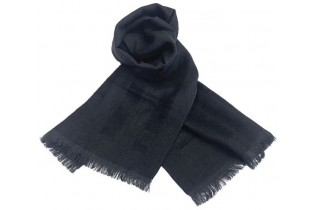 FF wool scarf 35X160 cm with sober tone-on-tone raised stripes for a classy outfit