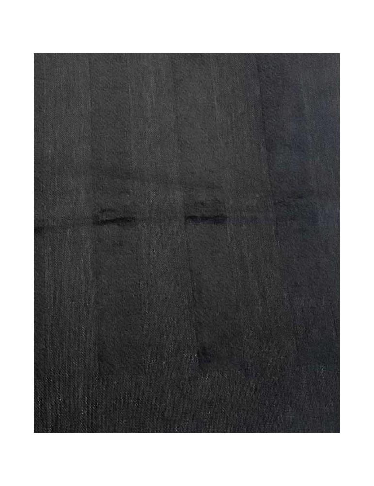 Sciarpa in lana nera FF 35X160 cm