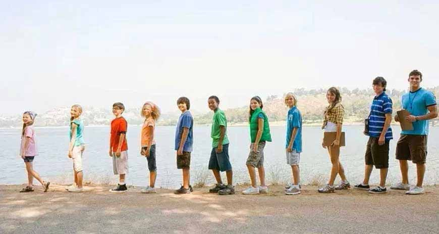 Bambini di diverse età